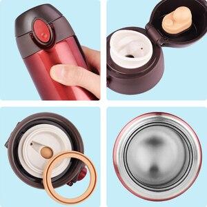Image 5 - Haers 500ml בקבוק תרמוס 304 נירוסטה BPA משלוח כוס תרמוס קל פתוח כפולה מאובטח נסיעות קפה תרמוס
