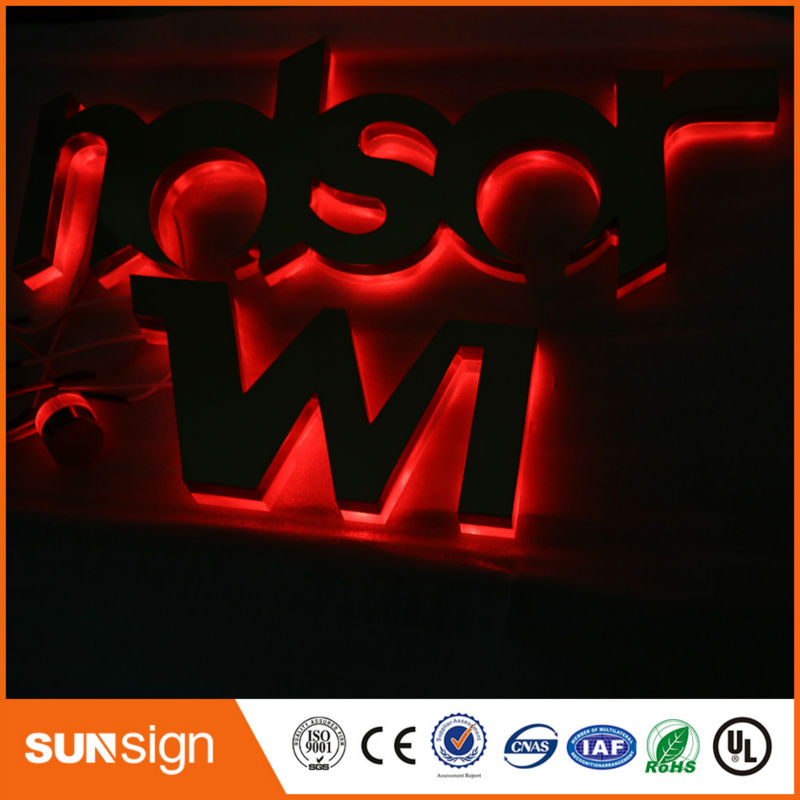 Wholesale Decorative Waterproof RGB Led Backlit Letters