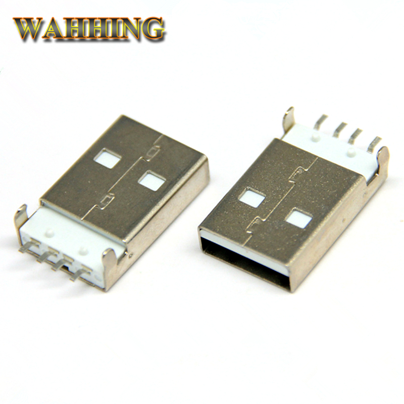 10pcs USB Male adapter Connector 4 Pin USB Jack Soldering Plug USB Cable Connector For Computer PCB DIY Charger Adapter HY579