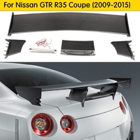 For Nissan GTR R35 Carbon Fiber Ni Style Rear Spoiler Brake Light Trunk Wing Racing Bodykit For R35 GT R Tuning Car Styling