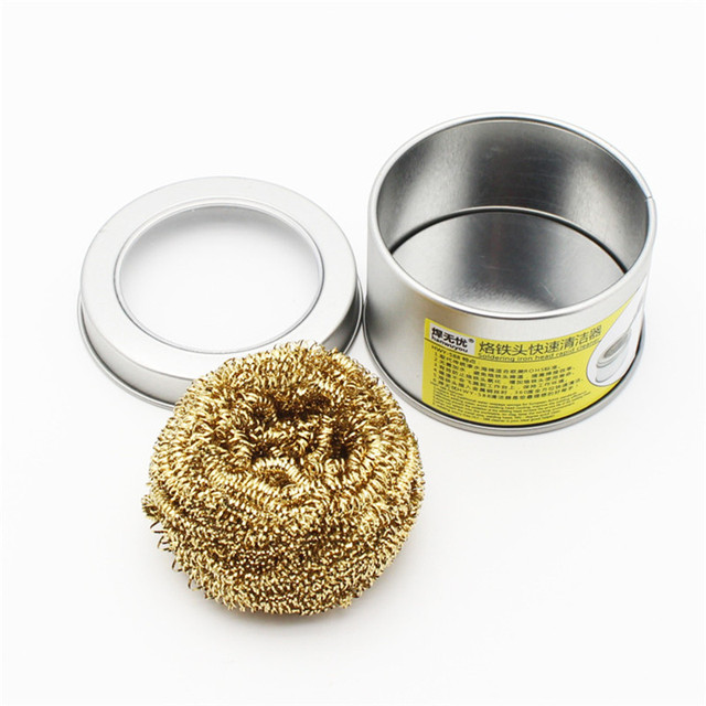 Desoldering soldering iron mesh filter cleaning nozzle tip copper wire ball clean ball dross box  Cleaning Ball