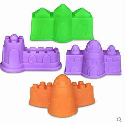 4 pcs/set Sand Molding Tools Castle Building Model Beach Toys Kit for Kids - Random Color