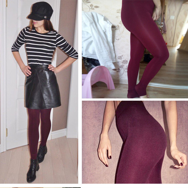 Winter Women's Warm High Waist Thick Velvet Legging