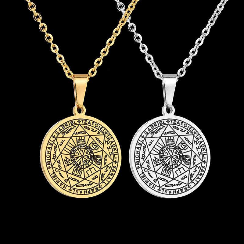 Nextvance salomona talizman heksagram wisiorek naszyjnik Totem 316L ze stali nierdzewnej naszyjniki biżuteria unisex