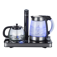 1.7L electric water heater service Set with temperature control teapot glass kettle thermal insulation auto pump water MD-3000