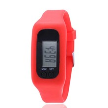 Males Digital Wristwatches Pedometer Calorie Watch Boy Vogue Silicone Strap Clock Girls Sports activities Watches PT