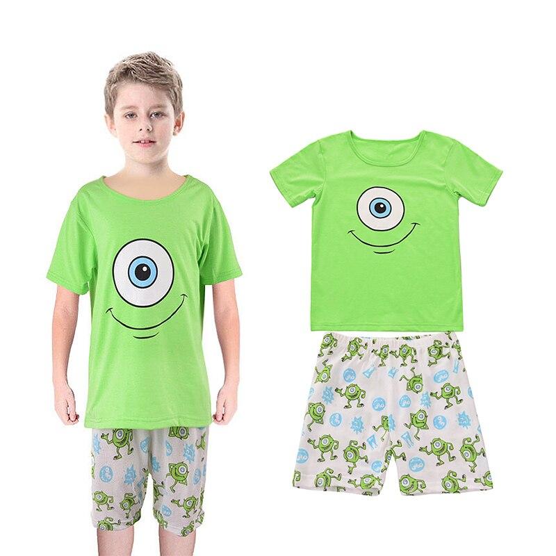 Yilaku мальчик Супермен Человек-паук Бэтмен Миньоны Костюмы наборы дети мультфильм футболки + шорты Пижама детская одежда CF209