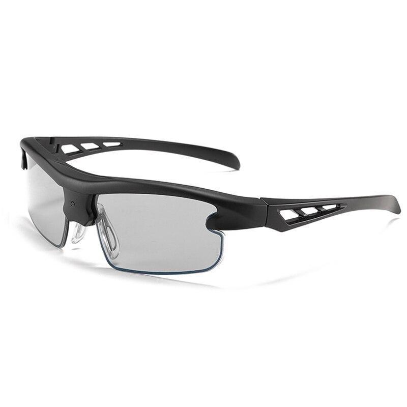 Hi-tech lunettes de soleil photochromiques changement de couleur polarisées lcd transition lentille UV hommes caméléon nuances myopie décoloration lunettes - 6