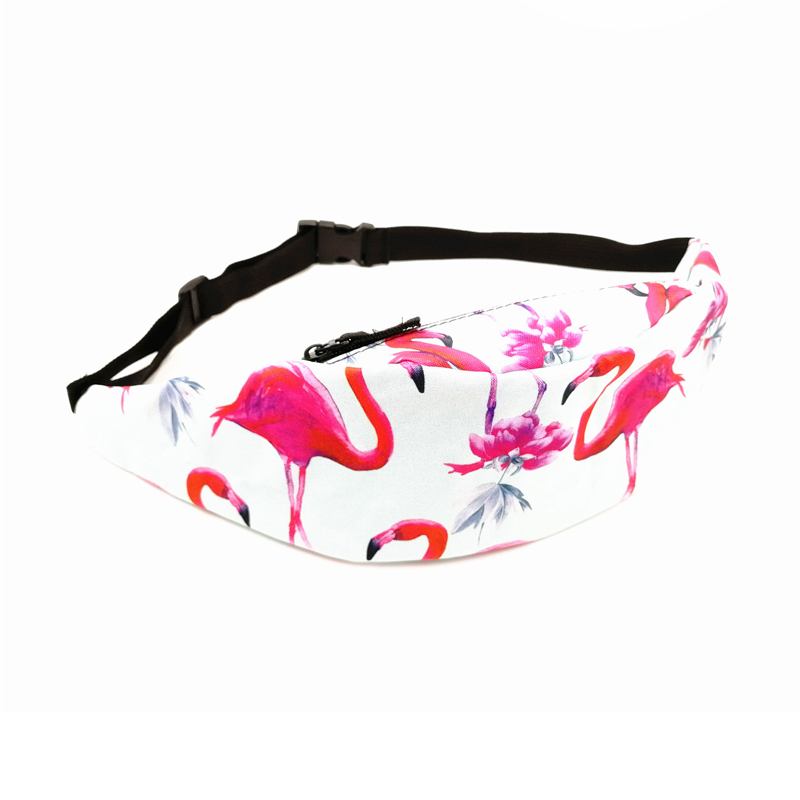 Cute Flamingo On Purple Running Lumbar Pack For Travel Outdoor Sports Walking Travel Waist Pack,travel Pocket With Adjustable Belt