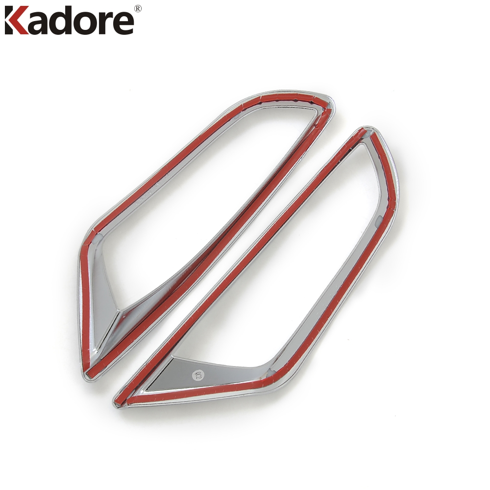 For Mazda CX3 CX-3 2015-2018 Car Rear Fog Light Bumper Reflector Trim ABS Chrome Exterior Foglight Styling Hood Accessories