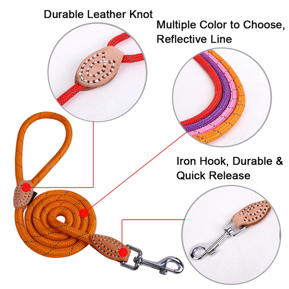 Pet Products Dog Leash Nylon Reflective Puppy Dog Leash Rope Cat Chihuahua Pet Leash And Collar Set Cat Dog Leashes Lead Harness (24)