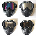 EE support moto motorcycle helmet goggles personality vintage half helmet face mask motocross goggle XY01