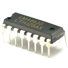 10PCS/lot LM4863D DIP16 LM4863 4863 New original free shipping fast delivery