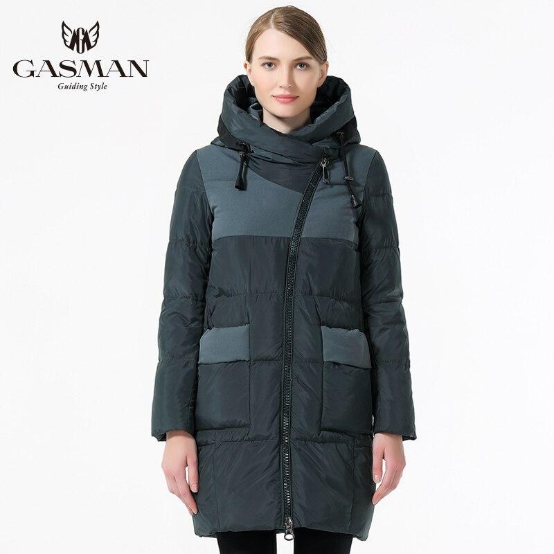 GASMAN 2019 Winter Frauen Marke Unten Jacke Mode Winter Weiblichen Mantel Mit Kapuze Verdickung Unten Parka Winddicht Jacke Für Frauen-in Parkas aus Damenbekleidung bei  Gruppe 3