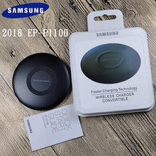 Samsung Fast Wireless Charger EP-P1100 9V1.67A QI advanced Charger Pad For Galaxy S7 S6 EDGE S8 S9 S10 Plus Note 4 5 XS XR mi9(China)