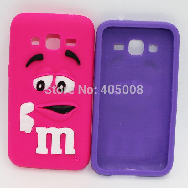Très bien For Samsung Galaxy Core Plus Silicon Case Rubber M&M Fragrance #RL_26