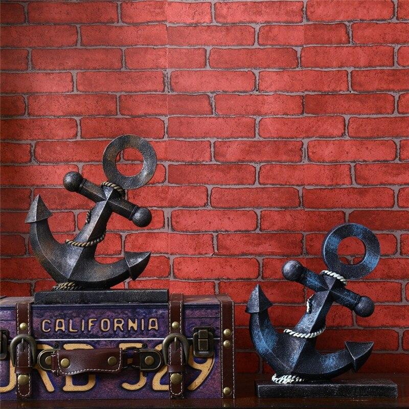 Vintage Style résine artisanat ancre résine ancre modèle anniversaire décor de bureau artisanat Figurines décors maison Miniature cadeaux
