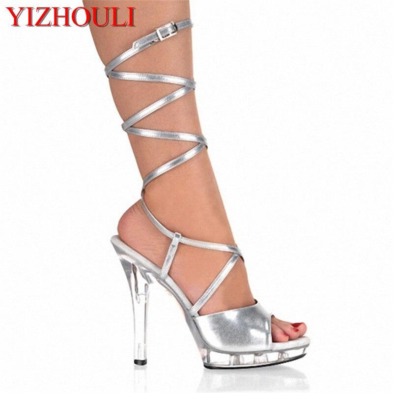Online Shop 13cm Transsexuals crystal high-heeled shoes big yards appeal  temptation13 centimeters high heel sandals waterproof  cfc8605799e4