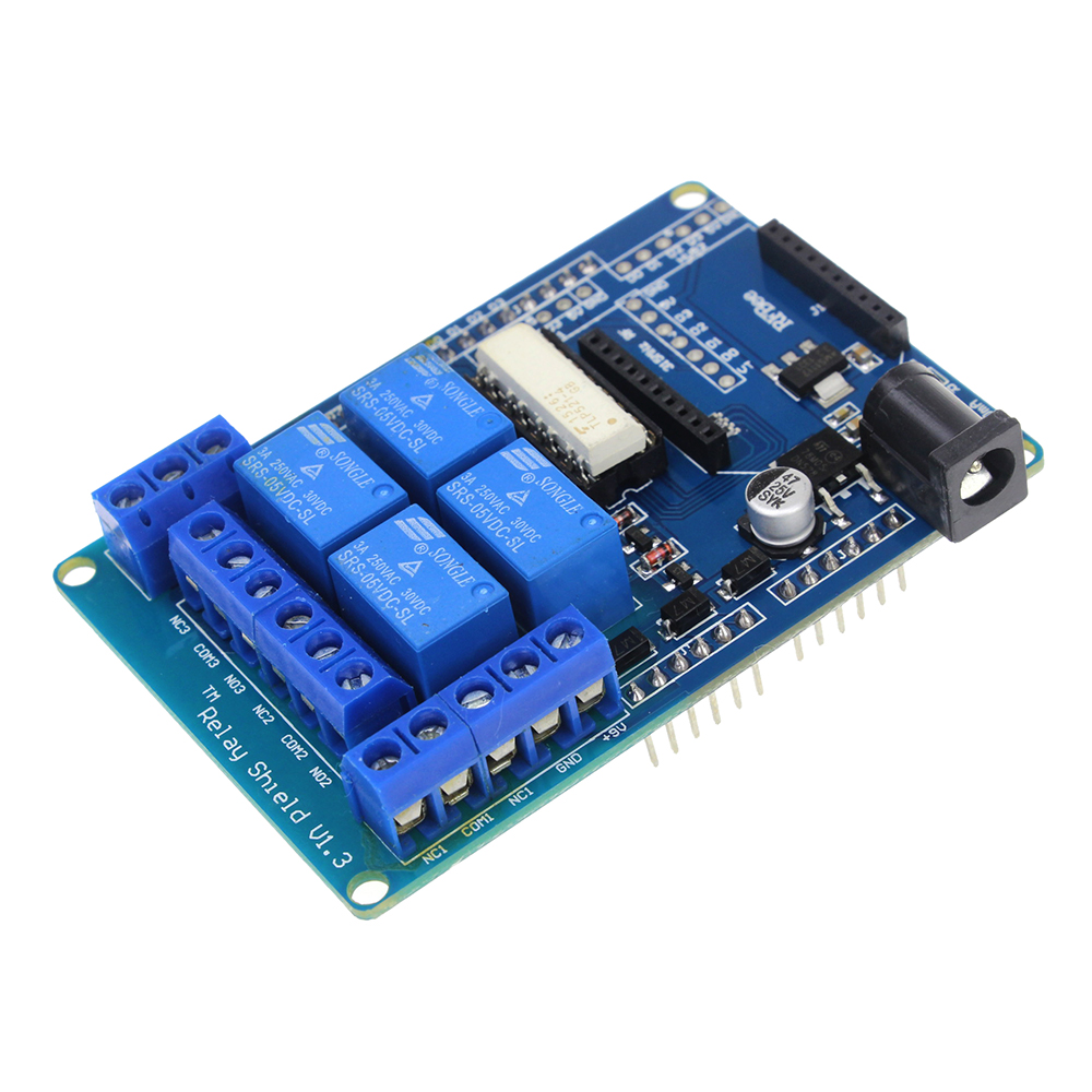 Smart Electronics 4 Channel 5V Relay Module Extension Board Relay Shield V1.3 for arduino Compatible with UNO MEGA 2560 tengying rtc direct extension compatible board for raspberry pi to arduino red