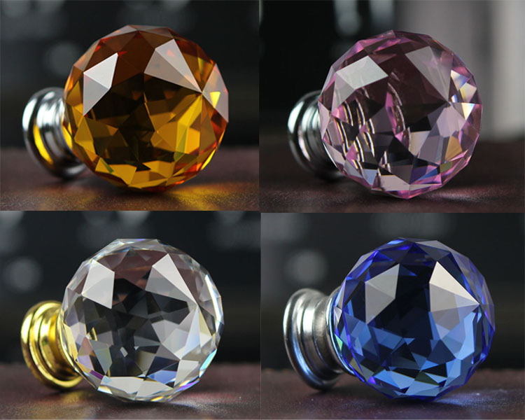 Design; In Systematic 10pcs/lot 30mm Round Clear Crystal Gold Base Handles And Knobs Kitchen Cabinet Drawer Door Knob Pulls Furniture Accessories Novel