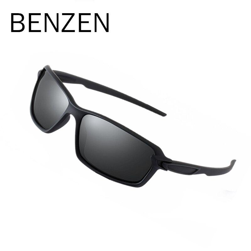 Lunettes de Soleil polarisées Hommes Conduite Pêche Lunettes Mâle lunettes de soleil Oculos Lunettes protection uv Noir B9326