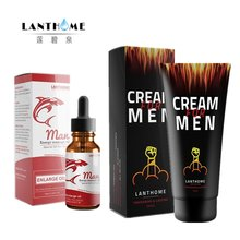 2pcs Herbs Big Dick Penis Thickening Growth Oil Plus Male Penis Enlargement Crema Ejaculation Delay Men Gel(China)