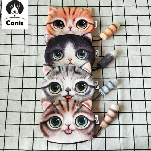US Fashion design New Cute Cat Coin Bag Purse Small Tail Wallet With Zipper