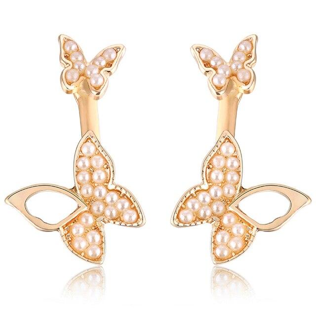 Manufacturers selling hanging butterfly earrings two wear fashion temperament Korean earrings fine jewelry for women 1