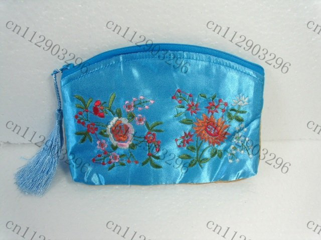 Free Shipping! Lot of 30 pcs beautiful CHINA Embroidery SILK PURSE coin BAG  Women Lady flower Wallet/Purse Handbag makeup bag