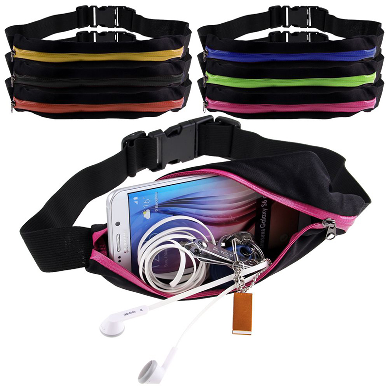New Outdoor Running Waist Bag Waterproof Mobile Phone Holder Jogging Belt Belly Bag Women Gym Fitness Bag Lady Sport Accessories 10