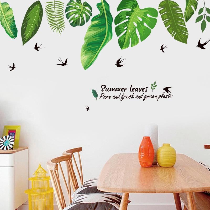 Swallow, Video, Seaside, Plant, Sticker, Wall