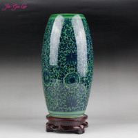 JIA GUI LUO Ceramic vase Vintage Chinese style flower arrangement dried flower storage vase home decoration household items C016