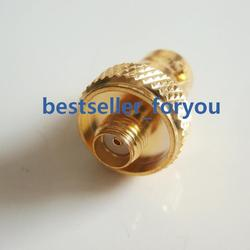 Golden BNC Female Jack to SMA Female RF  Connector Adapter BaoFeng UV-5R FD-880
