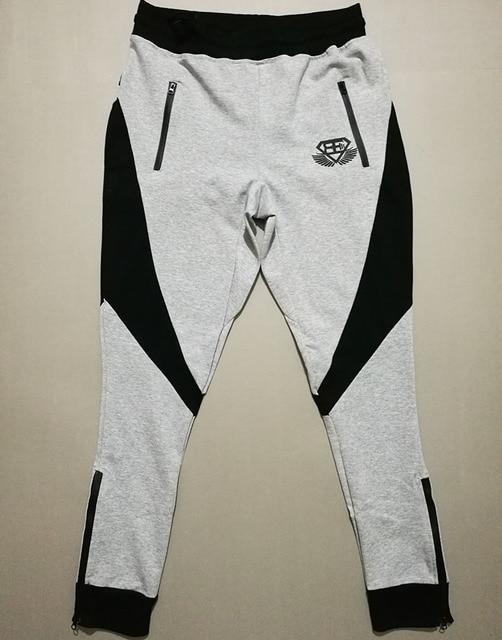 2016 новый модный бренд хлопок jogger брюки мужчины штаны