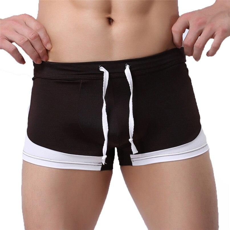 Mens Quick Dry Swim Shorts Swimwear Trunks Underwear Swimming Boxer Briefs Pants