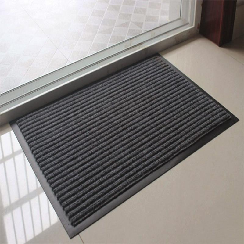 Anti-slip Stripe Doormat Floor Rug Kitchen Carpet Floor Mat Door Way Feet Mat Bath Rug Kitchen Rug Balcony Bathroom Door Mat