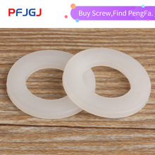 Peng Fa DIN125 ISO7089 M3 M4 M5 M6 M8 M10 M12 White Plastic Nylon Washer Plated Flat Spacer Seals Washer Gasket Ring m6 12 1 2 white 100pcs nylon washer plastic flat spacer washer thickness circular round gasket ring high quality circular