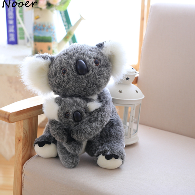 Nooer Kawaii Koala Plush Toys For Children Australian Koala Bear Plush Stuffed Soft Doll Kids Lovely Gift For Girl Kids Baby 27cm 50cm kawaii polar bear stuffed toys stuffed animal bear plush kawaii plush toys soft bedtime sleep doll newborn baby kids