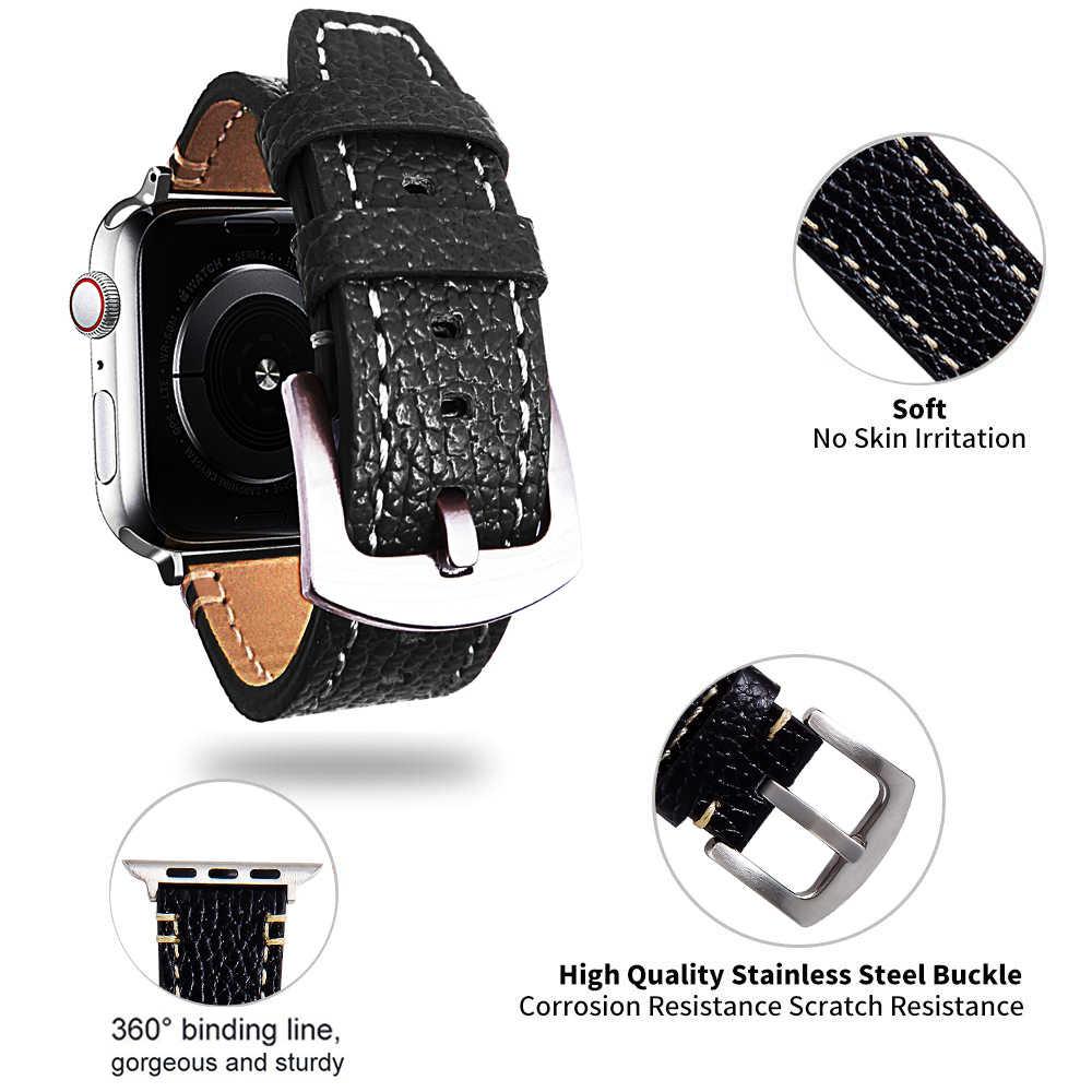 In Pelle di alta qualità Watch band Per Apple serie di Orologi 1/2/3 42 millimetri 38mm Del Braccialetto della cinghia per iwatch serie 5 4 40 millimetri 44 millimetri