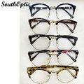 Vintage Retro anteojos prescripción de lentes mujeres marcos de anteojos borde completo gafas receituario marco ojos marcos de los vidrios para hombre 8110