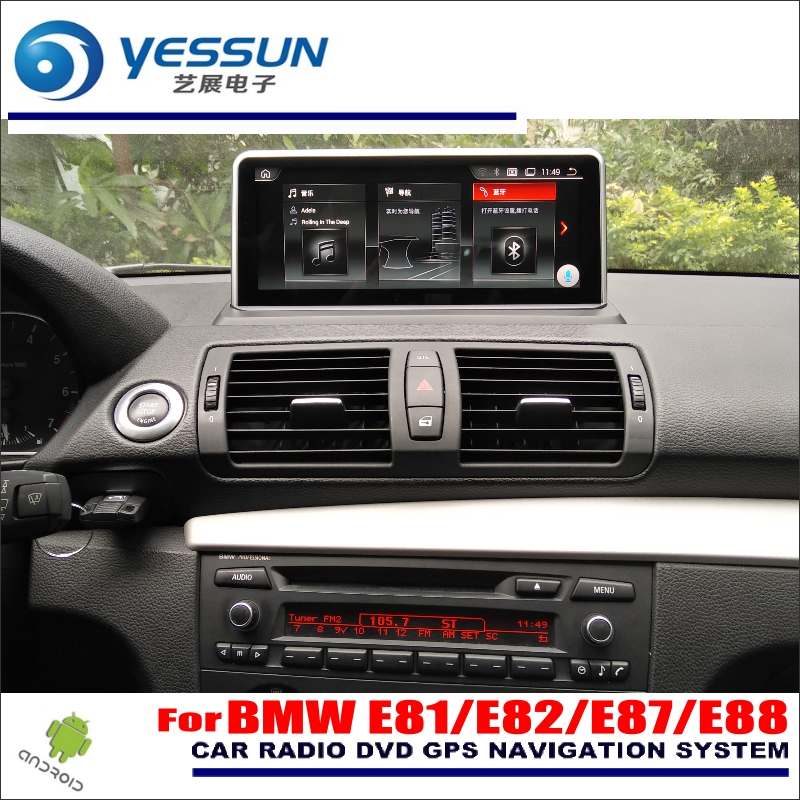 YESSUN 10 pulgadas HD pantalla para BMW 1 E81/E82/E87/E88 2005 ~ 2012 Coche android estéreo Audio Video Player GPS navegación Media No DVD
