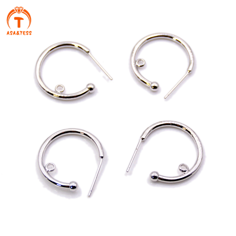 10 PCS SILVER PLATED EARRING HOOKS