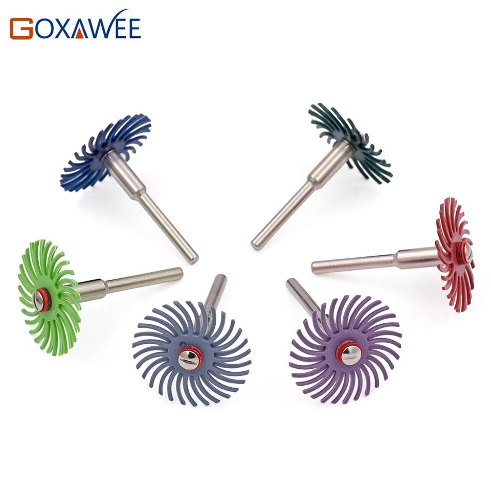 GOXAWEE 10pcs utensili rotanti a pennello abrasivo per accessori - Utensili abrasivi - Fotografia 4