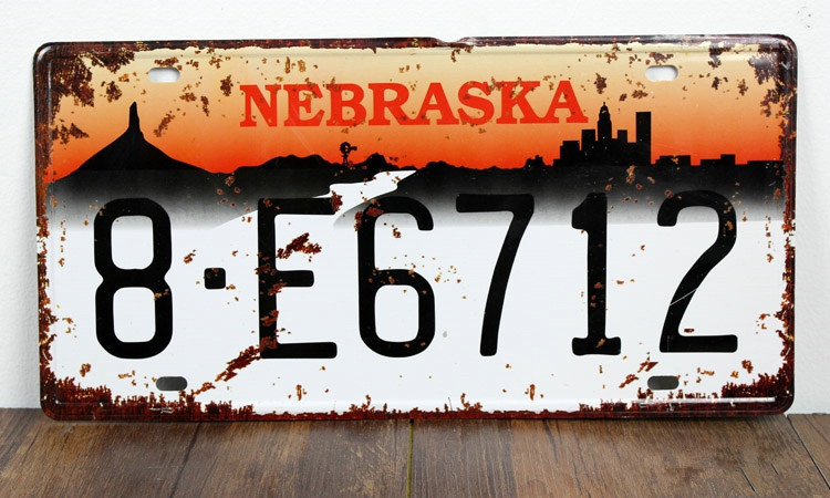 UA-CP-00148 New arrival car number  8-E6712  Metal vintage License Plate number tin sign cafe pub wall home decor 30*15 CM