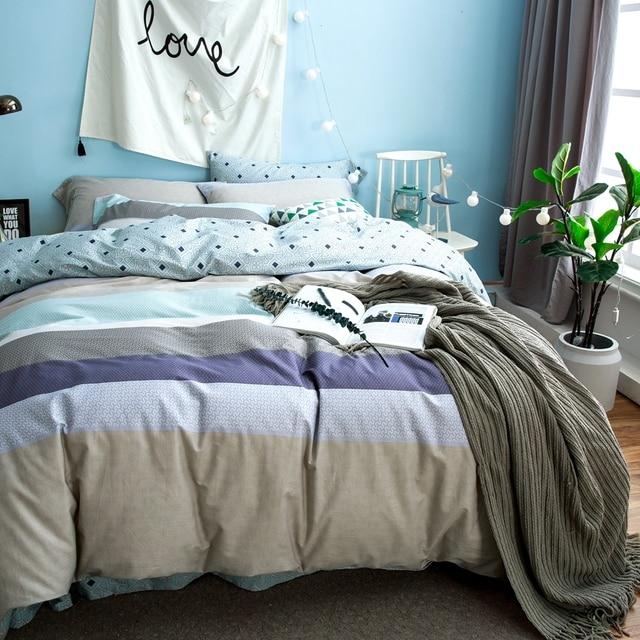 Modern Duvet Cover Sets For Men 100% Cotton Bedding Sets For Home Bedding  Queen King
