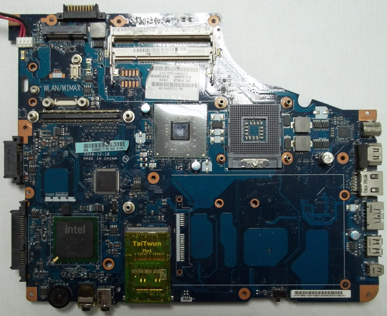 K000069530 For Toshiba Satellite A350 A355 Laptop Motherboard KTKAA LA-4571P