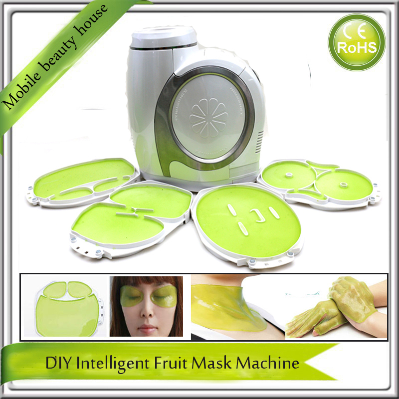 6 IN 1 Automatic Intelligent DIY Natural Fruit Vegetable Essence Eye Face Neck Breast Hand Collagen Beauty Mask Maker Machine 1 set professional face care diy homemade fruit vegetable crystal collagen powder facial mask maker machine skin whitening