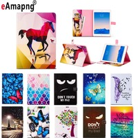 For Apple IPad 9 7 2017 Case Paintting PU Leather Tablet Cases For New IPad