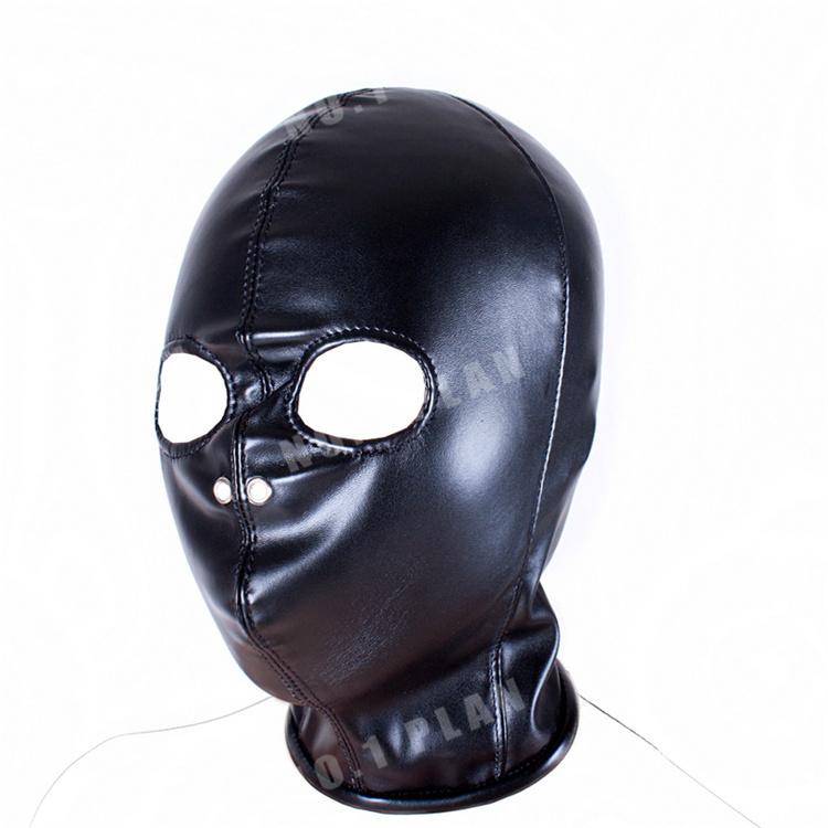 Buy New Soft PU Leather Hood Mask Head Bondage Slave Adult Games Couples,Fetish Sex Product Toys  Women Men - AS02