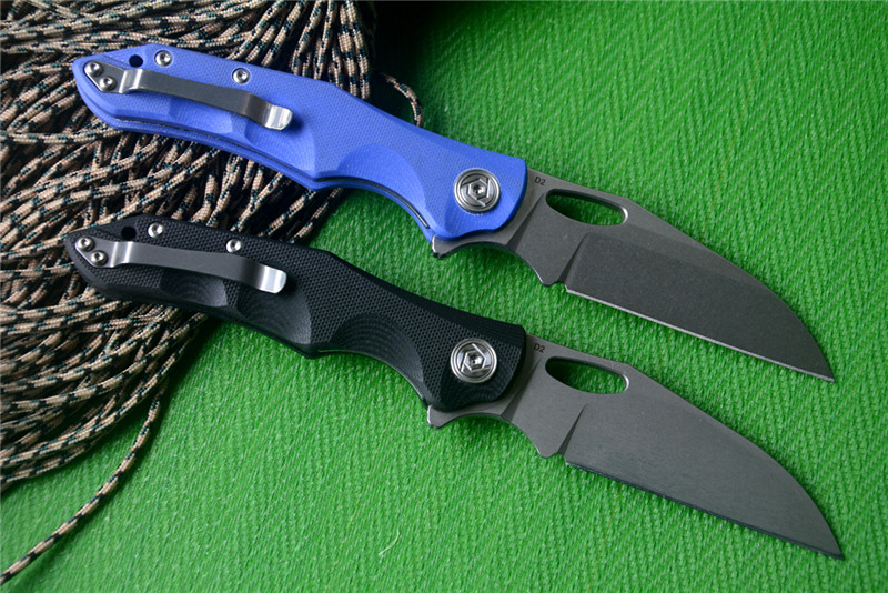 D2 Nighthawk Knives CH Knife Or Tactical Blue Camping Knife Blade Black G10 Survival Folding Handle LATEST Pocket